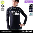BILLABONG/ビラボン レディース 長袖ラッシュガード AG013-854 Tシャツタイプ UVカット UPF50+ 水着 ビーチ 海水浴 プール 女性用