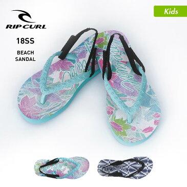 RIPCURL/リップカール キッズ ビーチサンダル U05-971 さんだる ビーサン ペタサンダル ぞうり 柄 ビーチ 海水浴 プール ジュニア 子供用 こども用 男の子用 女の子用