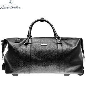 ブルックスブラザーズ ボストンバッグ BROOKS BROTHERS レザー キャリーバッグ 3WAY 旅行鞄 ブラック【アメトラ】【送料無料】