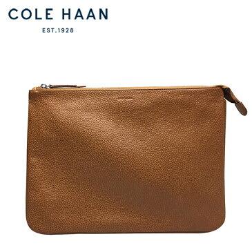コールハーン クラッチバッグ Cole Haan メンズ 本革 レザー ビジネスバッグ セカンドバッグ タブレット A4 ポーチ タン