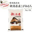 新米 令和2年産 特別栽培米〔もち米〕新潟産こがねもち5kg×3袋【送料無料】(一部地域を除く)