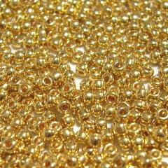 粒ぞろいが良く、良質な国産シードビーズです。TOHO/シードビーズ(丸小)/ゴールド(本金メッキ...