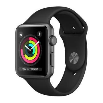 新品 Apple Watch Series3 42mm GPSモデル スペースグレイアルミニウム/ブラックスポーツバンド MQL12J/A NBJ5X4