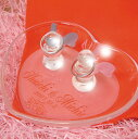 名前彫刻入りリングピロー.ガラス ハートプレート エンジェルリングピローA,結婚祝い,クリスマス,ギフト...
