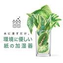 ペーパー加湿器(GREEN) エコ加湿器 日本製 電気不要 卓上 オフィス ペーパー加湿器 エコロジ...