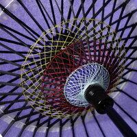 当店オリジナル【紙舞傘】一本柄黄赤渦赤紫水若草数量限定品【Paperumbrella】