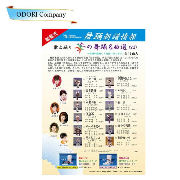 歌と踊り華の舞踊名曲選23 舞踊 振付 (DVD)