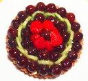 バースデーケーキ フルーツケーキ 誕生日ケーキ 記念日ケーキ ぶどうのタルト19cm(6号) 誕生日ケーキに!