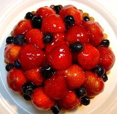 バースデーケーキ用に!記念日に!お祝い用に!いちごとブルーベリーのタルト16cm(5号) バー...