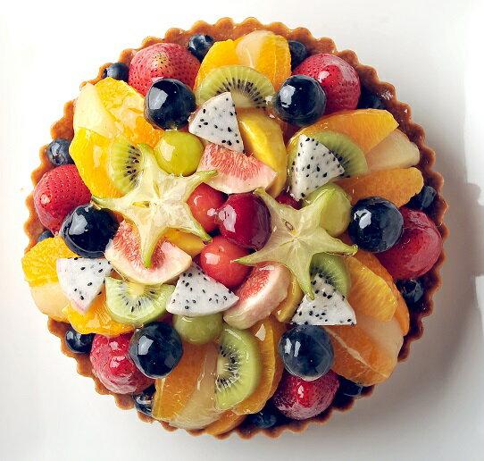 バースデーケーキ・記念日・贈り物におすすめタルト>季節のミックスフルーツタルト・バースデーケーキに!