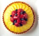 バースデーケーキ フルーツケーキ 誕生日ケーキ 記念日ケーキ とろけるマンゴーといちごのタルト19cm( 6号) 誕生日ケーキに! 大切な記念日にも! ☆ バースデイケーキ ☆