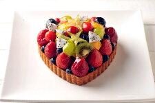 ハート型ミックスフルーツタルトお誕生日ケーキ、バースデーケーキ用に!記念日☆【バースデイケーキ】