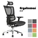 【完成品】エルゴヒューマンフィット(ErgohumanFit)/ヘッドレスト付/オカムラバロンチェアのようにメッシュ座とクッション座で選択が可能/高機能メッシュチェア/オフィスチェア