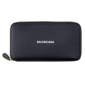 バレンシアガ メンズ レディース ラウンドファスナー長財布 594290 1IZ4M 1090 ブラック BALENCIAGA 高級 ブランド レザー 本革 コンパクト エブリデイ 大容量 誕生日 プレゼント 20代 30代 40代 50代 60代