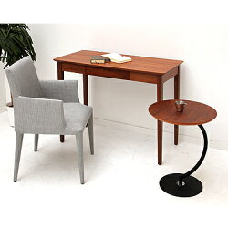 BRASS(ブラス)サイドテーブル木製ダークブラウン幅460×奥行460×高さ555mm
