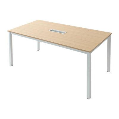 OA対応 会議テーブル 会議机 1800×900 配線ボックス有り NI-MTNH1890パソコン コンセントボックス...