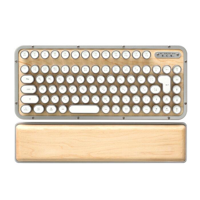 AZIO R.C.K. レトロクラシック・コンパクトキーボード メカニカルキーボード メイプルトップ 日本限定 タイプライター型キーボード Mac/Windows対応
