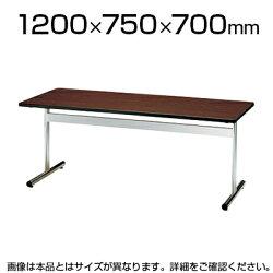 【送料無料】会議テーブル/角型・幅120×奥行75cm/TT-1275S