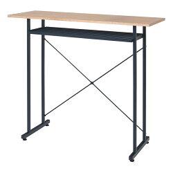 TAOカウンターテーブルスチール脚+木天板幅1100×奥行400×高さ950mm