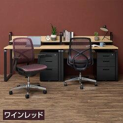 オールメッシュチェア座面メッシュオフィスチェアシンクス2ブラック使用イメージ