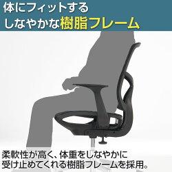 快適背座メッシュオフィスチェアデスクチェア肘付きシンクスエラストメリックメッシュキャスターホワイト白黒スタイリッシュチェア事務椅子パソコンチェアワークチェアメッシュチェアおしゃれ学習椅子イスCHAIR椅子肘掛【ポイント10倍】