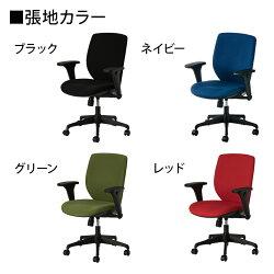 OAチェアシンクロロッキング背もたれフック付き事務椅子ルナーレブラック使用イメージ