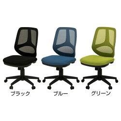 メッシュチェアオフィスチェアシンクロロッキングコレガ肘なしグリーン使用イメージ