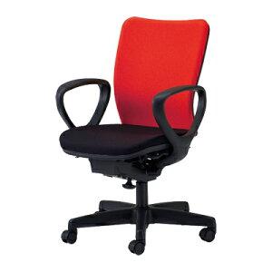 【日本製】 オフィスチェア 肘付き 事務椅子 シンクロロッキングチェア マット交換可 布張り …