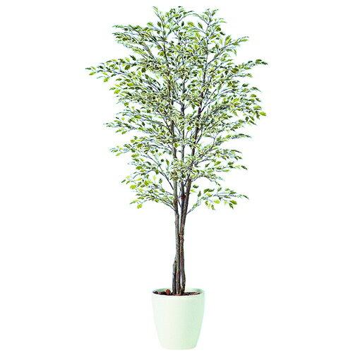 【今だけ20%OFF!!】送料無料【ベンジャミナ スターライト トリプル RP鉢タイプ】W80cm×H150cmフェイクグリーン 人工観葉植物 インテリアグリーン オフィスグリーン 人工樹木 造花ベンジャミナ:オフィスグリーン