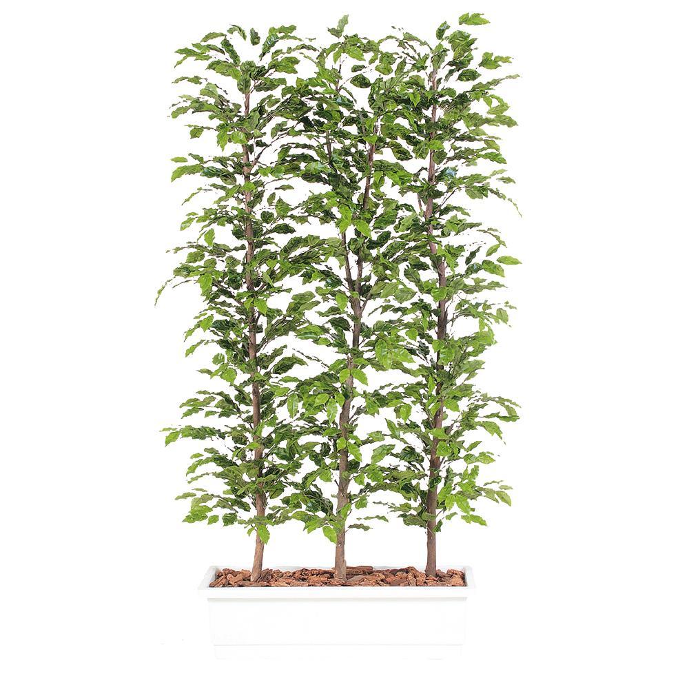 【今だけ20%OFF!!】代引不可【ベンジャミナ スプラッシュ パーテーション】W100cm×D50cm×H150cmフェイクグリーン 人工観葉植物 インテリアグリーン オフィスグリーン 人工樹木 造花ベンジャミナ:オフィスグリーン