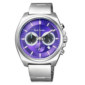 Paul Smith ポールスミス Final Eyes ファイナルアイズ 2018年限定モデル メンズ 腕時計 BA4-612-93 アナログ クオーツ クロノグラフ ムラサキ パープル 紫