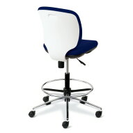 PLUS(プラス)オフィス家具Preseaホワイトシェルタイプローバック肘なしハイタイプW(幅)610D(奥行き)560H(高さ)