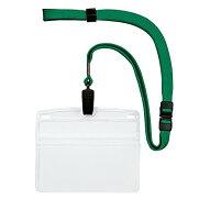 オープン工業吊り下げ名札クリップ式ソフトヨコ(特大サイズ)緑10枚NL-21-GN(10セット)