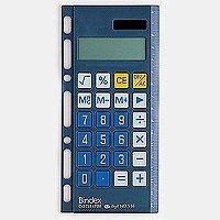 【ゆうパケット配送可】能率 システム手帳 リフィル 電卓リフィール3 グラファイト 536