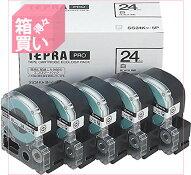 【箱買い商品/一箱24セット入り】キングジムKINGJIMテープカートリッジエ個パックシロSS24K−5P(※メーカーからの取り寄せになります)