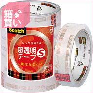 【箱買い商品/一箱90セット】スコッチ・3Mスコッチチョウ透明テープS24MMBK−24N4549395164400(納期優先の為単品詰合せの場合が御座います)