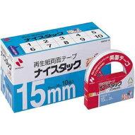 ニチバン両面テープナイスタック一般タイプ15mm10巻入NWBB-15大巻(10セット)