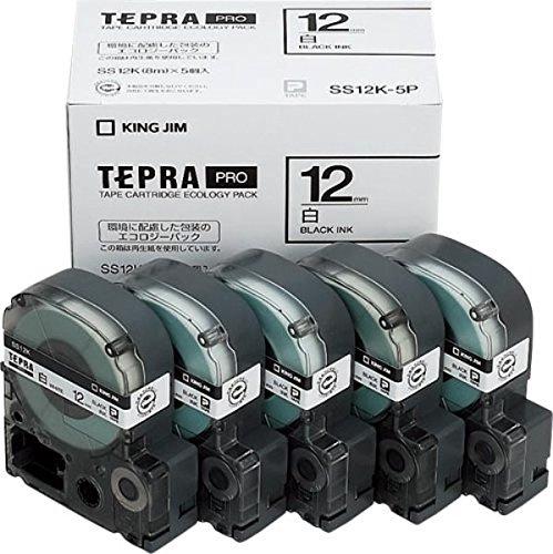 12mm エコパック キングジム PRO 黒文字 透明/ 1パック ST12K−10PN テプラ テープカートリッジ