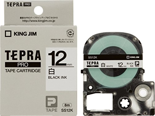 【942円×1セット】【ゆうパケット発送(送料350円)可】キングジム テープカートリッジ テプラPRO 12mm SS12K