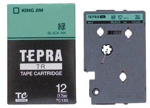 產品詳細資料,日本Yahoo代標 日本代購 日本批發-ibuy99 【1257円×120セット】テプラTR テープカートリッジ カラーラベル パステル 緑 12mm …