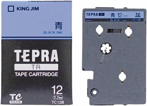 產品詳細資料,日本Yahoo代標 日本代購 日本批發-ibuy99 【1257円×120セット】テプラTR テープカートリッジ カラーラベル パステル 青 12mm …