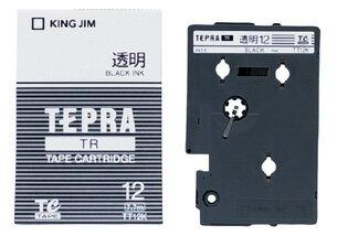產品詳細資料,日本Yahoo代標 日本代購 日本批發-ibuy99 【1257円×120セット】テプラTRテープカートリッジ 透明ラベル 12mm 黒文字 透明 TT…