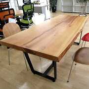 [新入荷]OFFICEPORTALオリジナル1枚板テーブルW1770米杉会議テーブルカウンター