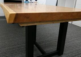 [店頭受取可]OFFICEPORTALオリジナル一枚板テーブル脚セットW2260杉オフィス向け会議テーブル