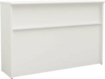 丈夫なスチール ハイカウンター 幅1500 奥行450 高さ1000 ホワイト【お客様組立】 HC-1545-WH