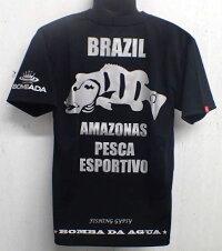 【代引き不可】 BOMBA DA AGUA/ボンバダアグア 【ピーコック ドライTshirt 】 ショートTシャツ「Pantera preta」