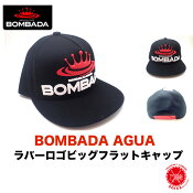 BOMBADA AGUA/ボンバダ・アグア 【 RUBBER LOGO BIG FLAT CAP / ラバーロゴ ビッグフラットキャップ 】#Black otto