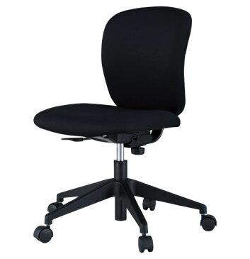 PLUS JOINTEX 事務イス CN-10Cチェア 1脚分 【 肘なし 】 【 背座の張地カラー ブラック色 布張り / 背裏は樹脂ブラック色 】 【 お客様組立商品 】 事務用回転椅子 ※有償にて完成品渡し可能 プラスジョインテックスチェア