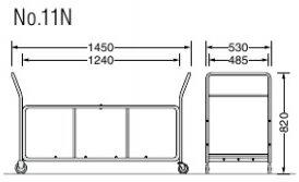 折りたたみイス用収納台車【Ψ70mmキャスター4個】【W1450×D530×H820mm】【15kg】【積載量150kg】ライオン製品折りたたみイス用