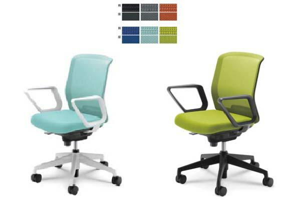 ジャストチェア【ローバック】【L型肘固定肘】【選べるキャスター】【布張り】選べる全7色のカラー【5本脚】事務用回転椅子(JUSTCHAIR)ビジネスオフィスチェアパソコンチェア